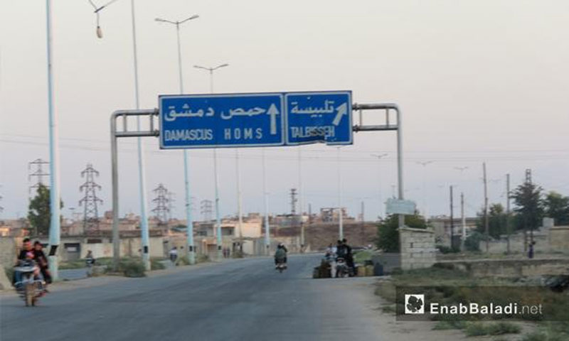 Al-Rastan Highway Talbiseh North Homs - August 1, 2017 - (Enab Baladi)