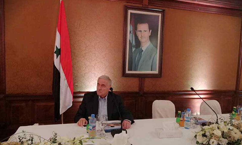 President of the Federation of Syrian Chambers of Commerce Mohammed Ghassan al-Qalaa - September 28, 2019 (Wael al-Daghli) Enab Baladi - Murad Abdul Jalil