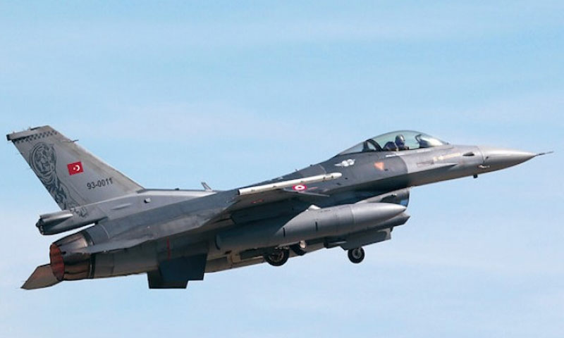 A fighter aircraft of the Turkish air force (Anadolu)