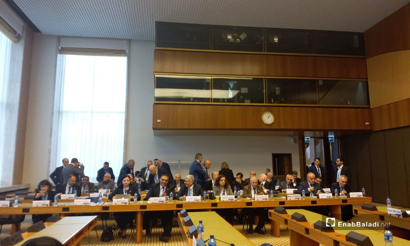 Meetings of the Syrian Constitutional Committee in Geneva, Switzerland - 2019 (Enab Baladi)