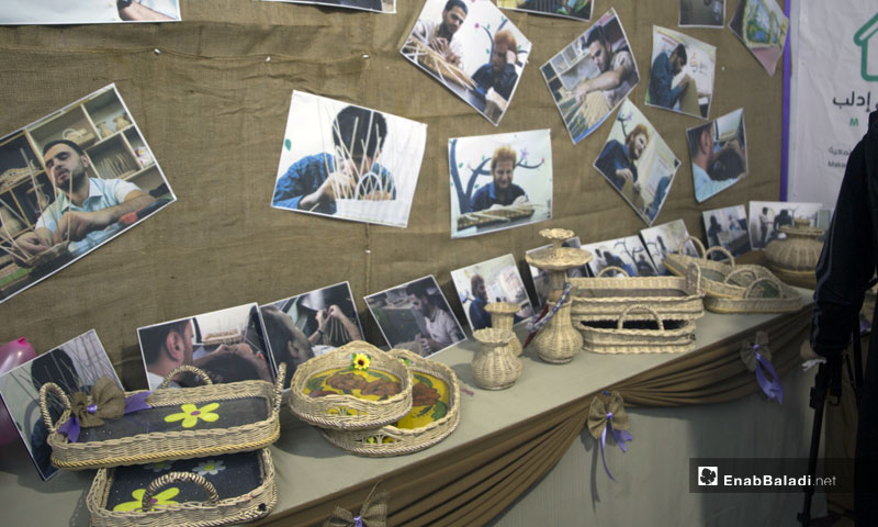 Handicraft exhibition for blind people at the Makani Center in Idlib - 23 October 2019 (Enab Baladi)