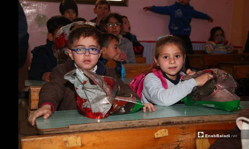 Children with special needs at Sanad Center in Kafr Takharim, Idlib countryside (Enab Baladi)