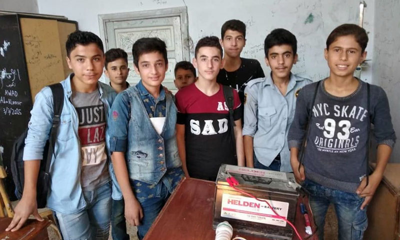 Vocational school students during a lesson - September 2019 (The school Facebook page)