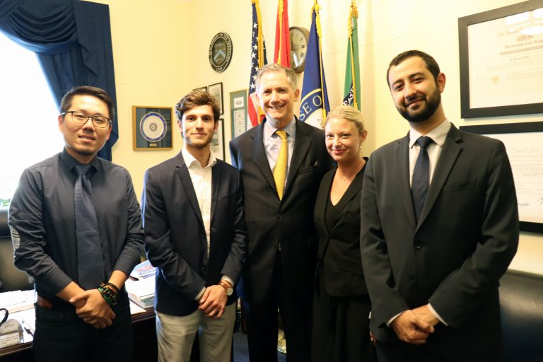 Members of the Syrian Emergency Task Force (SETF) with Congressman French Hill - 2019 (U.S. Congress website)