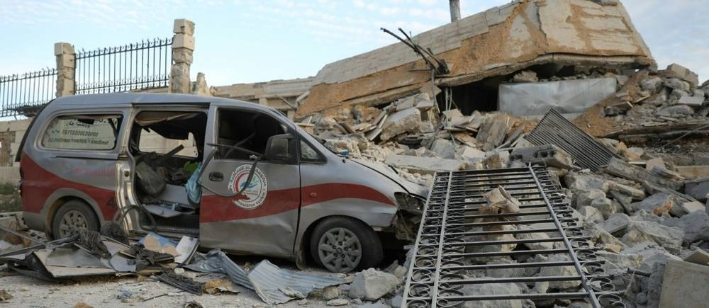 Targeting of hospitals in Idlib - May 2019 (AFP)