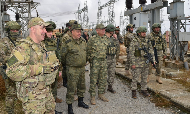 Members of the Turkish Russian troops in the Mabrouk refugee camp (Turkish Ministry of National Defense)