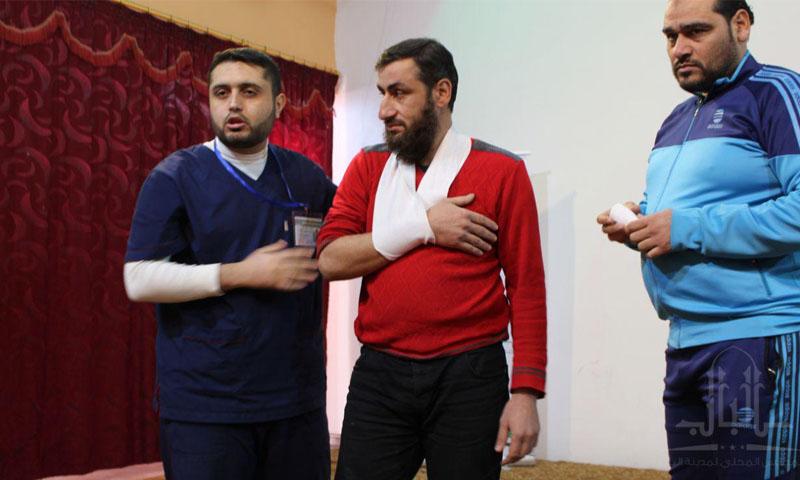 Physical sports medicine training session in al-Bab City - December 7, 2019 (al-Bab Local Council - Telegram)
