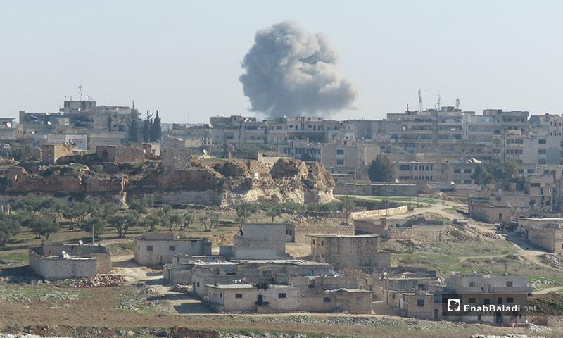 Airstrikes on the town of Maaret al-Numan - 18 December 2019 (Enab Baladi)