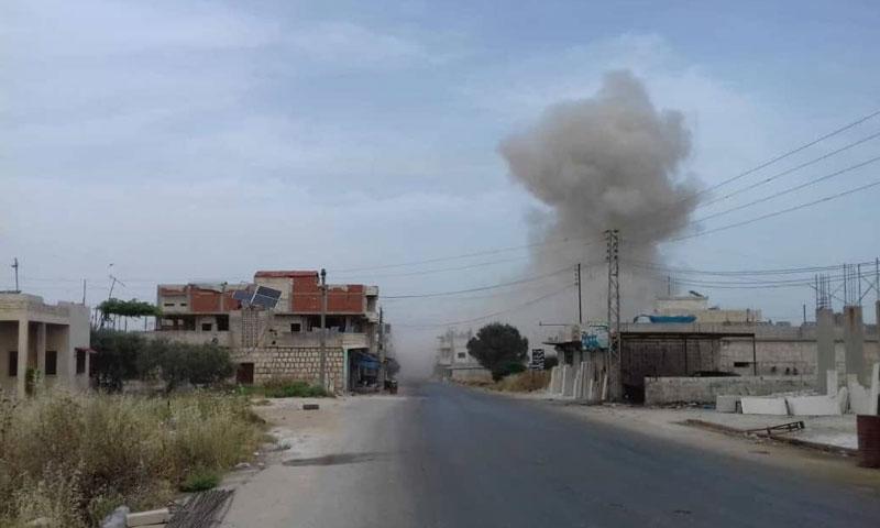 Syrian regime airstrikes on Kafr Nabl southern Idlib - June 4, 2019 (Kafr Nabl News)