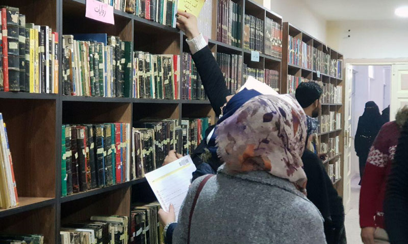 The opening of Free Aleppo University's library—9 December 2019 (Local Council of Azaz)