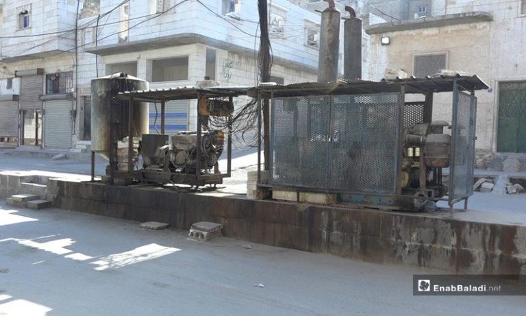 Electricity generator in al-Bab city in Aleppo countryside - November 2019 (Enab Baladi)