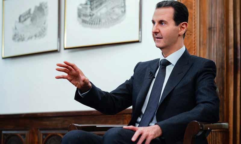 The President of the Syrian regime, Bashar al-Assad, in an interview with China's Phoenix Television - 16 December 2019 (SANA)