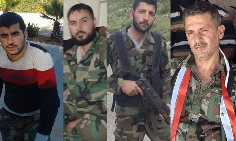 Deaths of members of Syrian regime forces, including a colonel during heavy clashes in Idlib, 21 December 2019 (al-Masyaf news network)