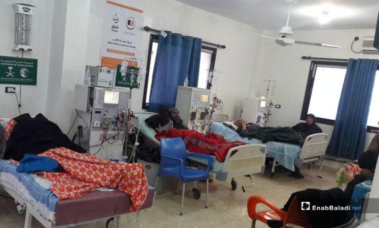 Patients undergoing dialysis in an Idlib hospital - 2019 (Enab Baladi)