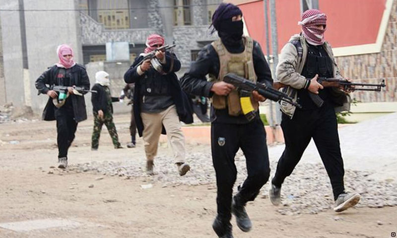 ISIS fighters during the battles near the Syrian-Iraqi border - 2014 (Reuters)