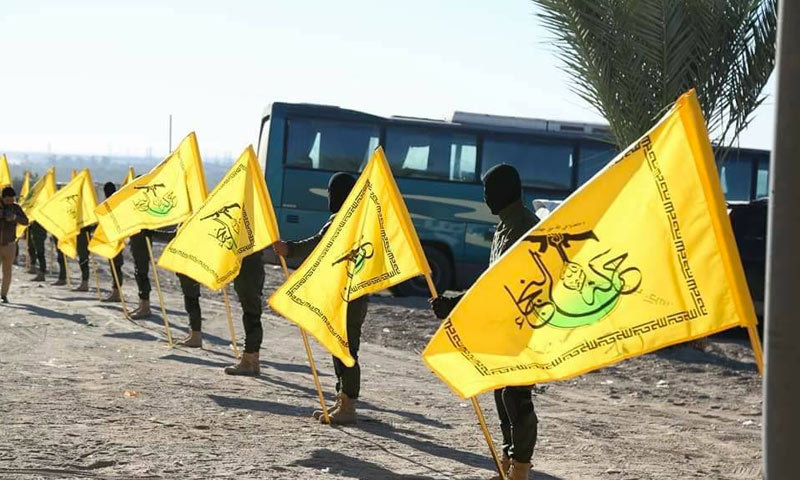 Fighters affiliated to the Iraqi al-Nujaba Movement (the website of the movement)