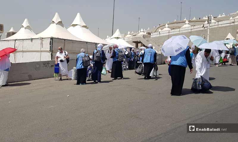 Syrian pilgrims in Mina to spend the day Tarwiyah - 9 August, 2019 (Enab Baladi)