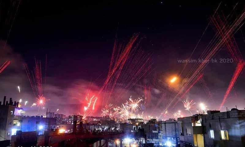 2020 New Year's celebration in Lattakia (Lattakia News Network)