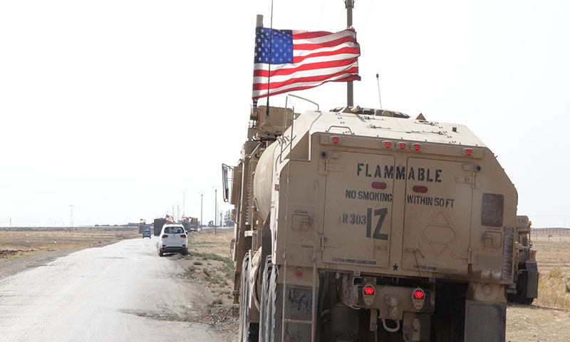 US forces on the Deir Ezzor-Hasakah highway (Russia Today).