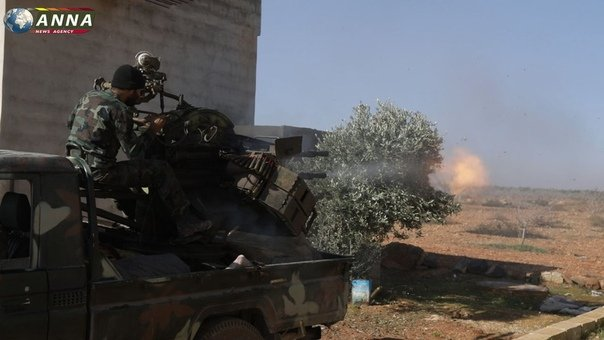 A photo for the battles on the Idlib fronts between the Syrian regime and the opposition factions, shot by Russian media outlets, 21 January 2019 (ANNA)