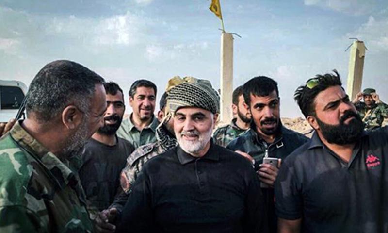 Qassem Soleimani during his visits to the Al-Bukamal area on the Syrian-Iraqi border - 17 November 2017 (Al-Nujaba Movement)