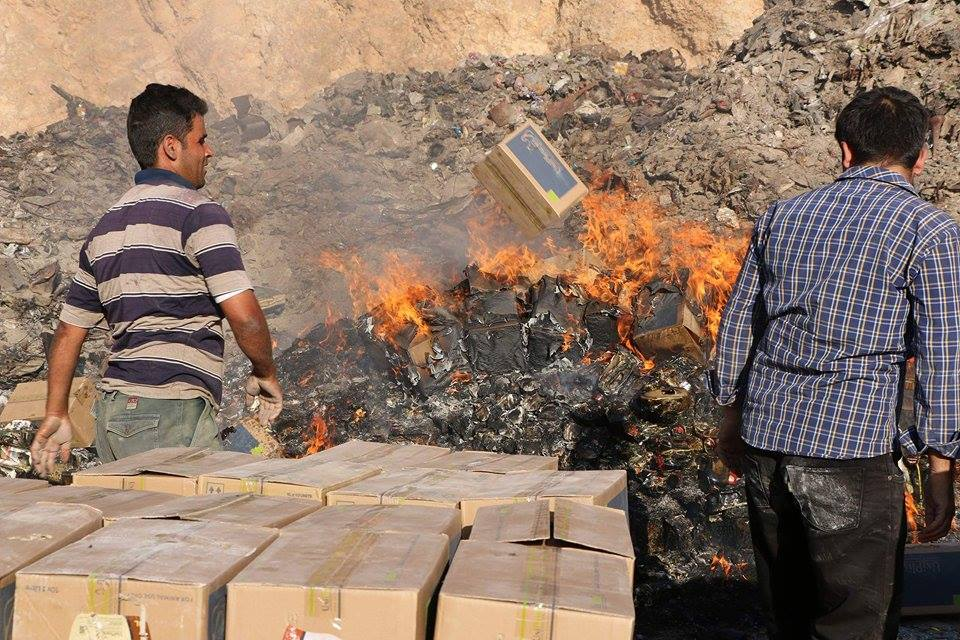 Destruction of medicines in Idlib by the Drug Control Authority of the Idlib Health Directorate, October 2019 (Health Directorate)