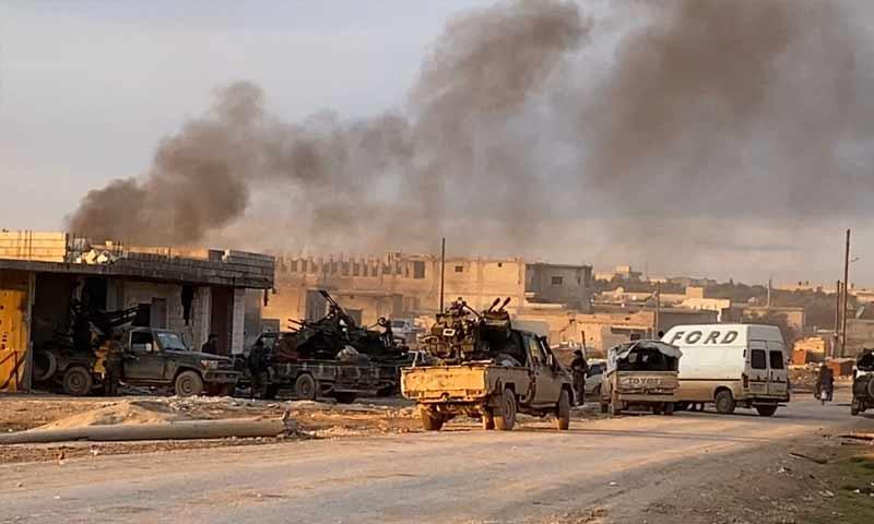 Syrian regime forces in the eastern countryside of Idlib (Oleg Blokhin Telegram)