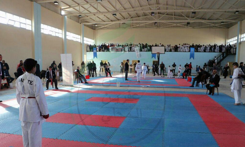 The Karate Championship for cubs and juniors categories held under the supervision of the Sports Office of Afrin Local Council - 26 January 2020 (Afrin Local Council's Telegram account)