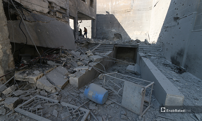 The effects of the wide-scale devastation caused by the Russian airstrikes on the Kinana Hospital in the city of Darat Azza, west of Aleppo - 17 February 2020 (Enab Baladi)