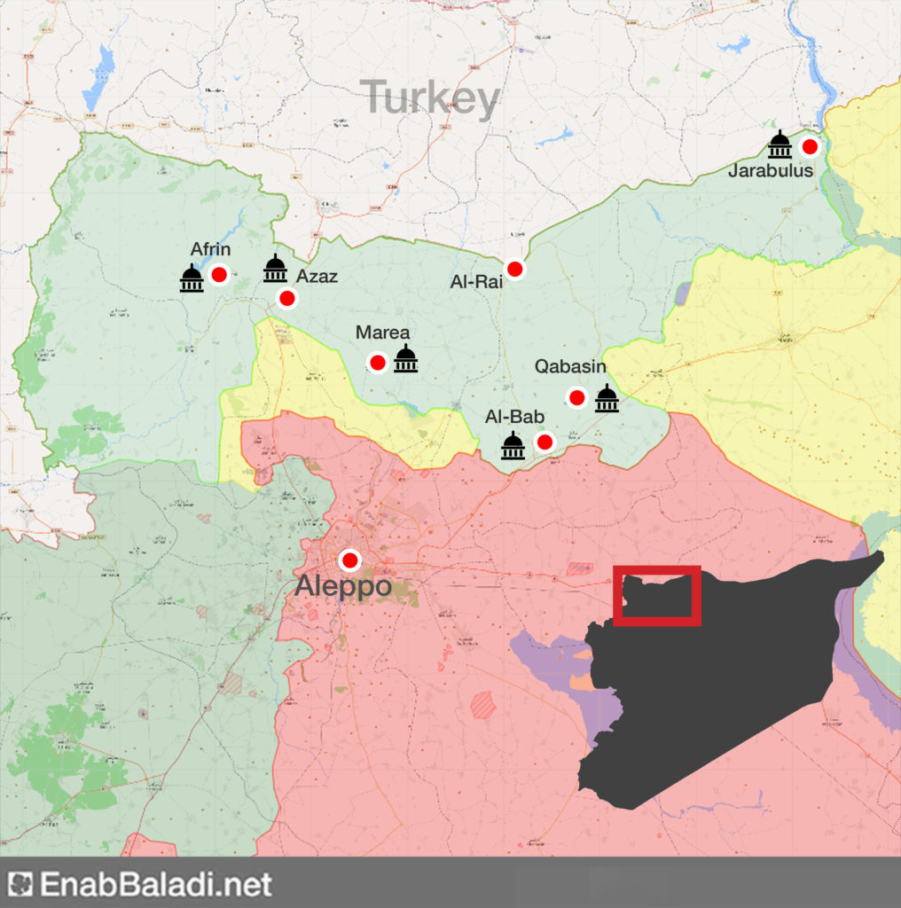 The most prominent local councils in the northern countryside of Aleppo