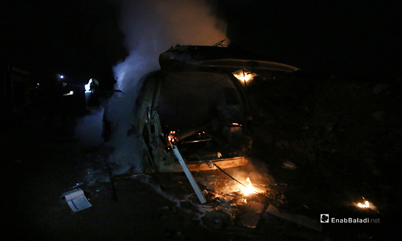 An ambulance was targeted by a Russian airstrike in the city of Idlib - 6 February 2020 (Enab Baladi)