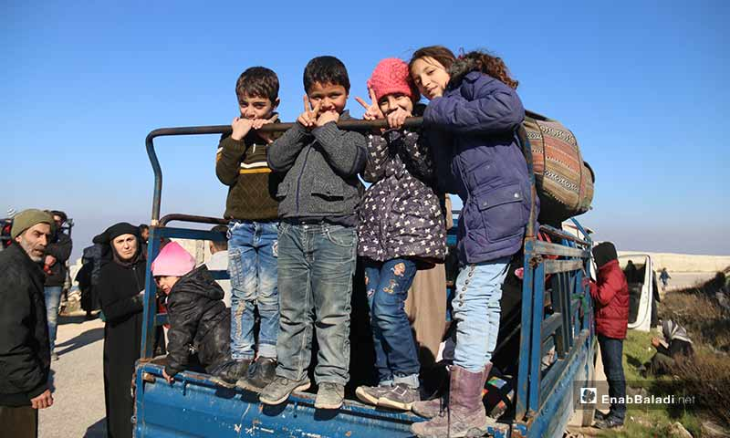 """Syrian children participating in """"From Idlib to Berlin"""" campaign - 2 February 2020 (Enab Baladi)"""