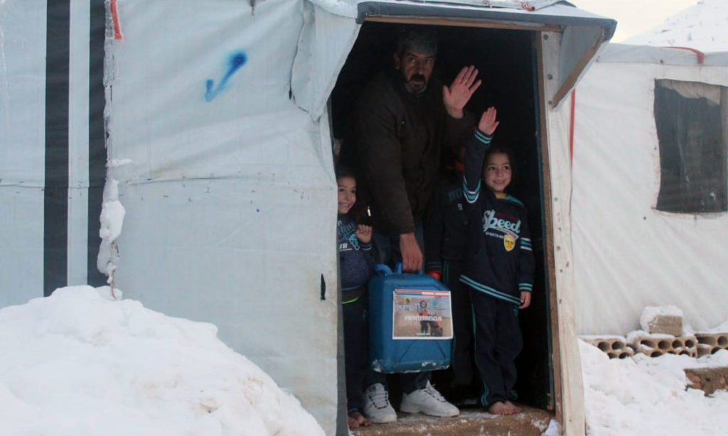 Distribution of winter aid to Syrian refugees in Aarsal - February 2020 (Union of Relief and Development Associations - URDA)