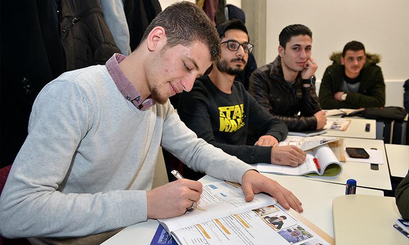 Syrian Students learning Turkish language (YTP)