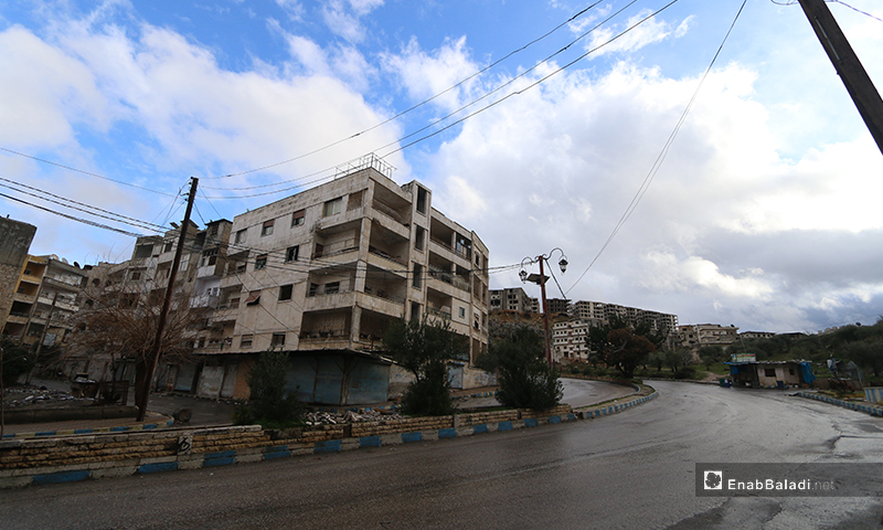 The town of Ariha is empty of its residents due to the shelling and the advance of the Syrian regime forces  - 8 February 2020 (Enab Baladi)