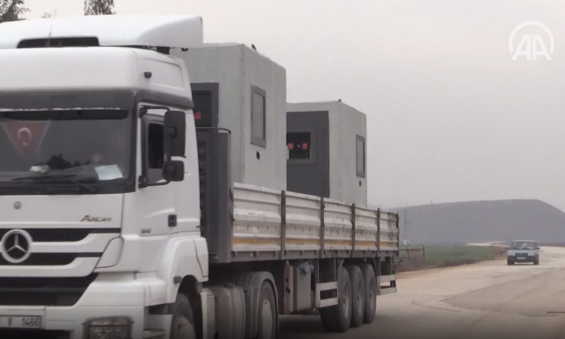 Turkey sends armoured cabins to its observation posts in Syria - 4 February 2020 (Anadolu news agency)