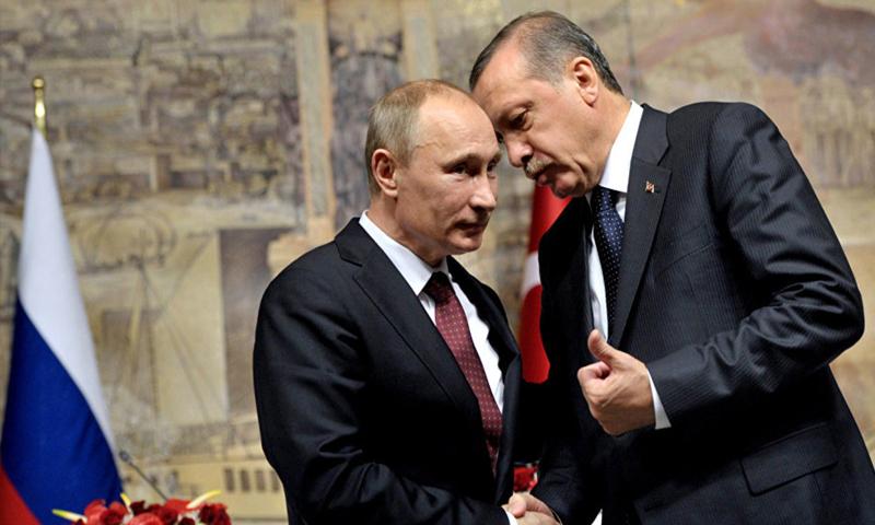 Turkish President Recep Tayyip Erdogan and Russian President Vladimir Putin (Reuters)