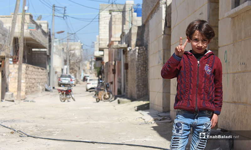 Tours through the streets of Atarib town in western Aleppo - 8 March 2020 (Enab Baladi)