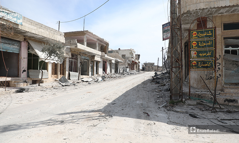 Villages, south of the international highway M4, are empty of their residents - 11 March 2020