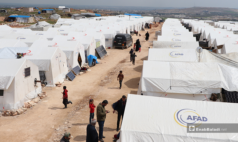 Al-Azraq camp of al-Bab city in rural Aleppo – 25 March 2020 (Enab Baladi)