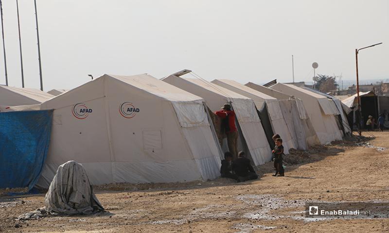 Internally displaced Syrian people in Ka'ibah camp in northern rural Aleppo-17 March 2020 (Enab Baladi)