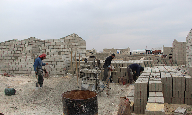 """Housing units being built by """"IHH"""" organization with the support of Turkish President Recep Tayyip Erdogan (T24)"""