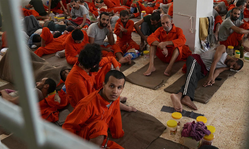 Prisoners of the so-called Islamic State at the detention center of the Syrian Democratic Forces in eastern Syria - 21 September 2019 (CBS)