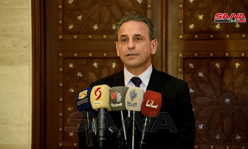 The Minister of Health in the Syrian regime's government, Nizar Yazaji ( Syrian Prime Ministry)