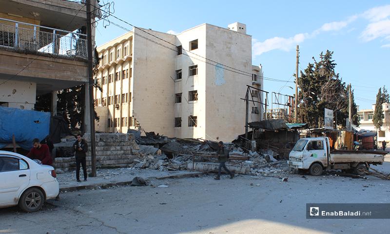 Dramatic effects of regime bombardment on the city of Idlib - 25 February 2020 (Enab Baladi)