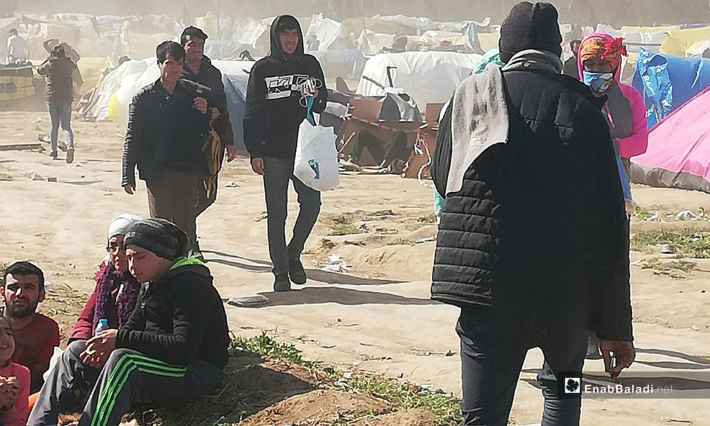 Syrian refugees camped on the Turkish-Greek borders - 7 March 2020 (Enab Baladi)