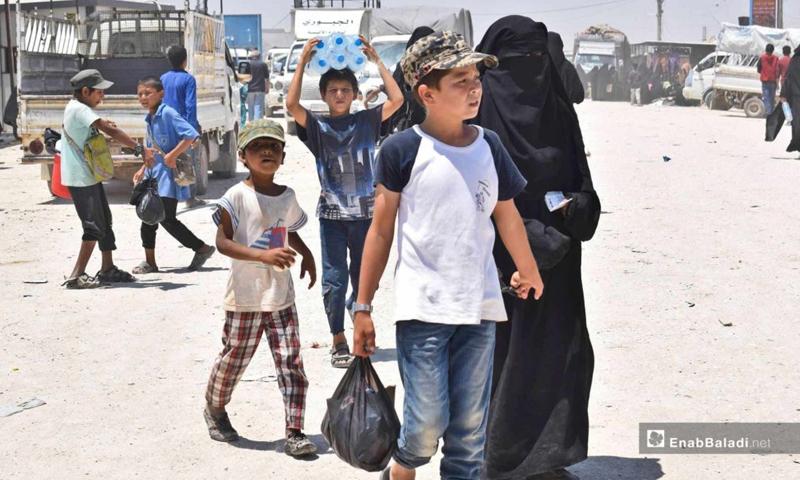Children in al-Hol camp in the countryside of al-Hasakeh, east of the Euphrates River - 25 June 2019 (Enab Baladi )