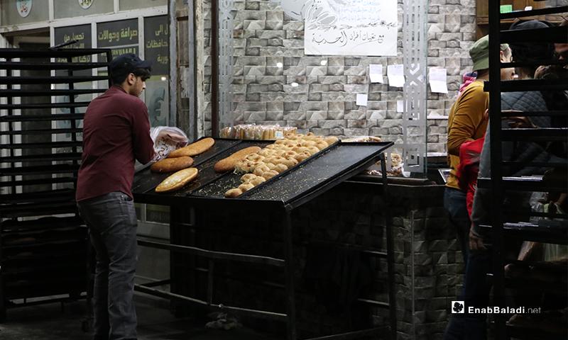 A bakery in al-Bab city in Aleppo countryside on the first night of Ramadan– 23 April 2020 (Enab Baladi)