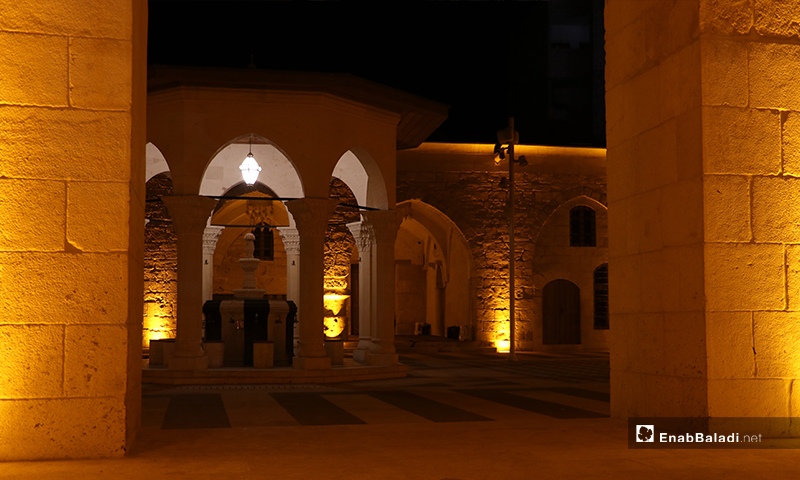The ablution unit of the Great Mosque in al-Bab city on the first night of Ramadan – 23 April 2020 (Enab Baladi)