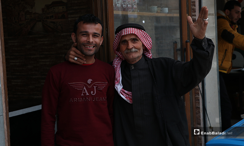 Residents of al-Bab city look happy before the call to sunset prayer and iftar – 25 April 2020 (Enab Baladi)